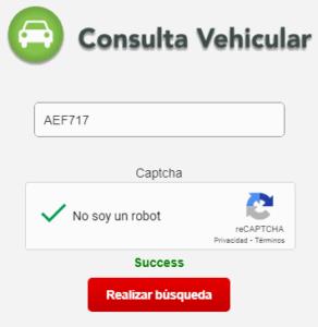 Ingresar desde la plataforma de SUNARP Vehícular para saber si un vehículo es robado.